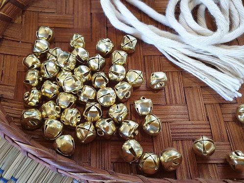 6 x Gold Bells