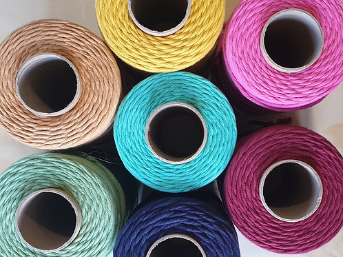 Coloured Cotton Macrame Cord 3mm
