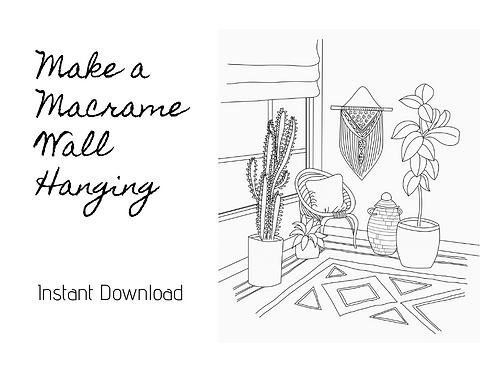Instant Download - Macrame Wall Hanging Pattern & Video Tutorial