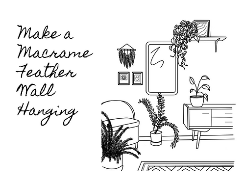 Instant Download - Macrame Feather Wall Hanging Pattern