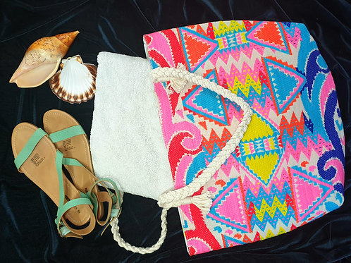 Big Bright Beach Bag