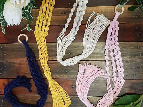 Coloured Macrame Plant Hanging Workshop - 12th Feb