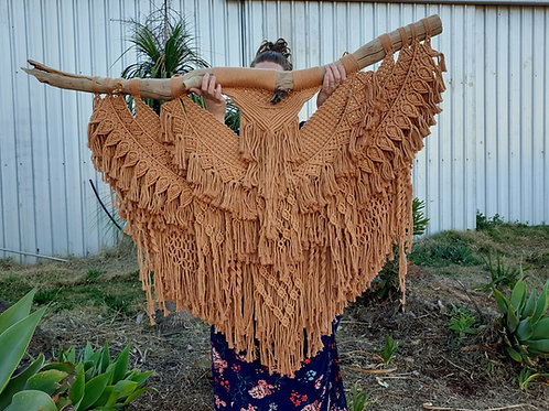 Phoenix Rising - XL Tan Macrame Wall Hanging