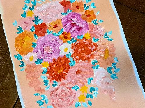 Coral Florals A3