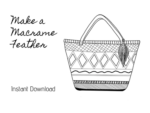 Instant Download - Macrame Feather Pattern