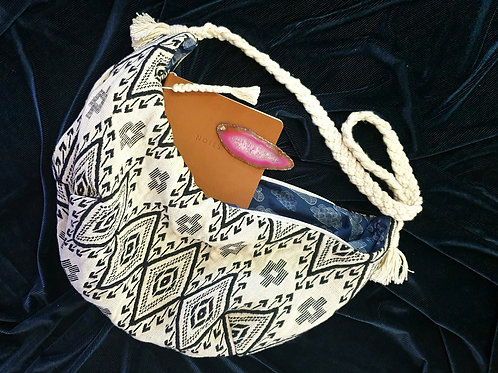 Slouch Bag with Braided Handle