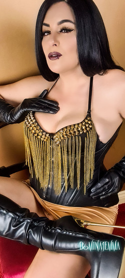 Black & Gold Leather Mistress
