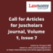 Call for Articles for Juscholars Journal
