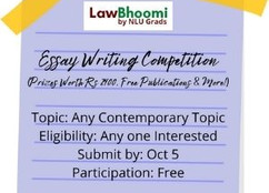 Essay Writing Competition by LawBhoomi