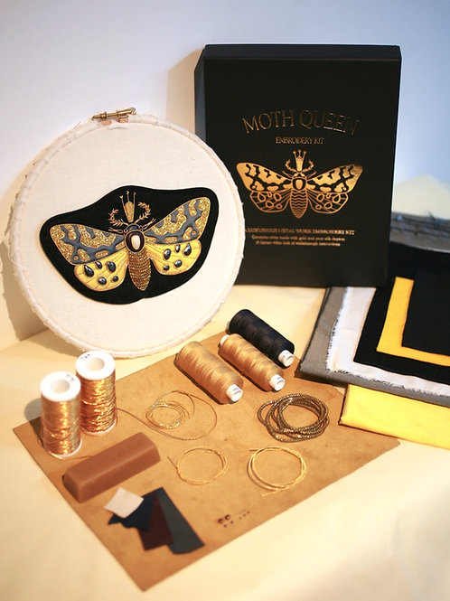 Moth Queen Embroidery Kit