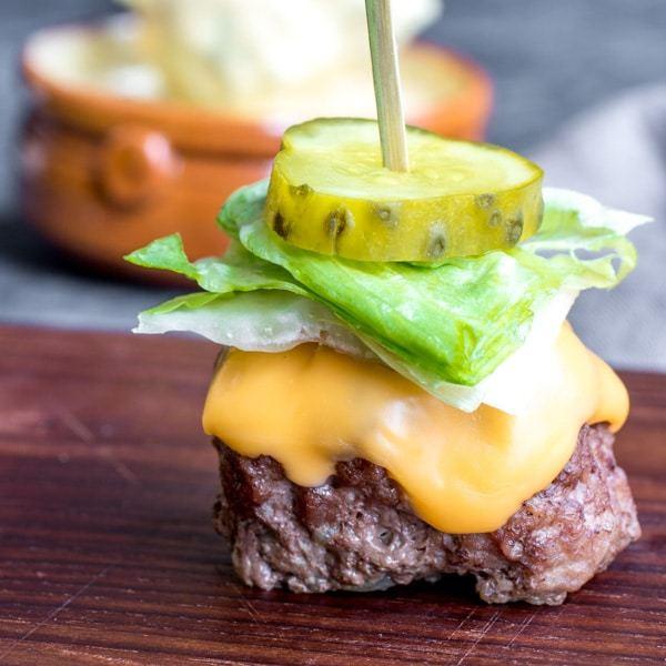 low carb big mac bites keto bunless burger appetizer