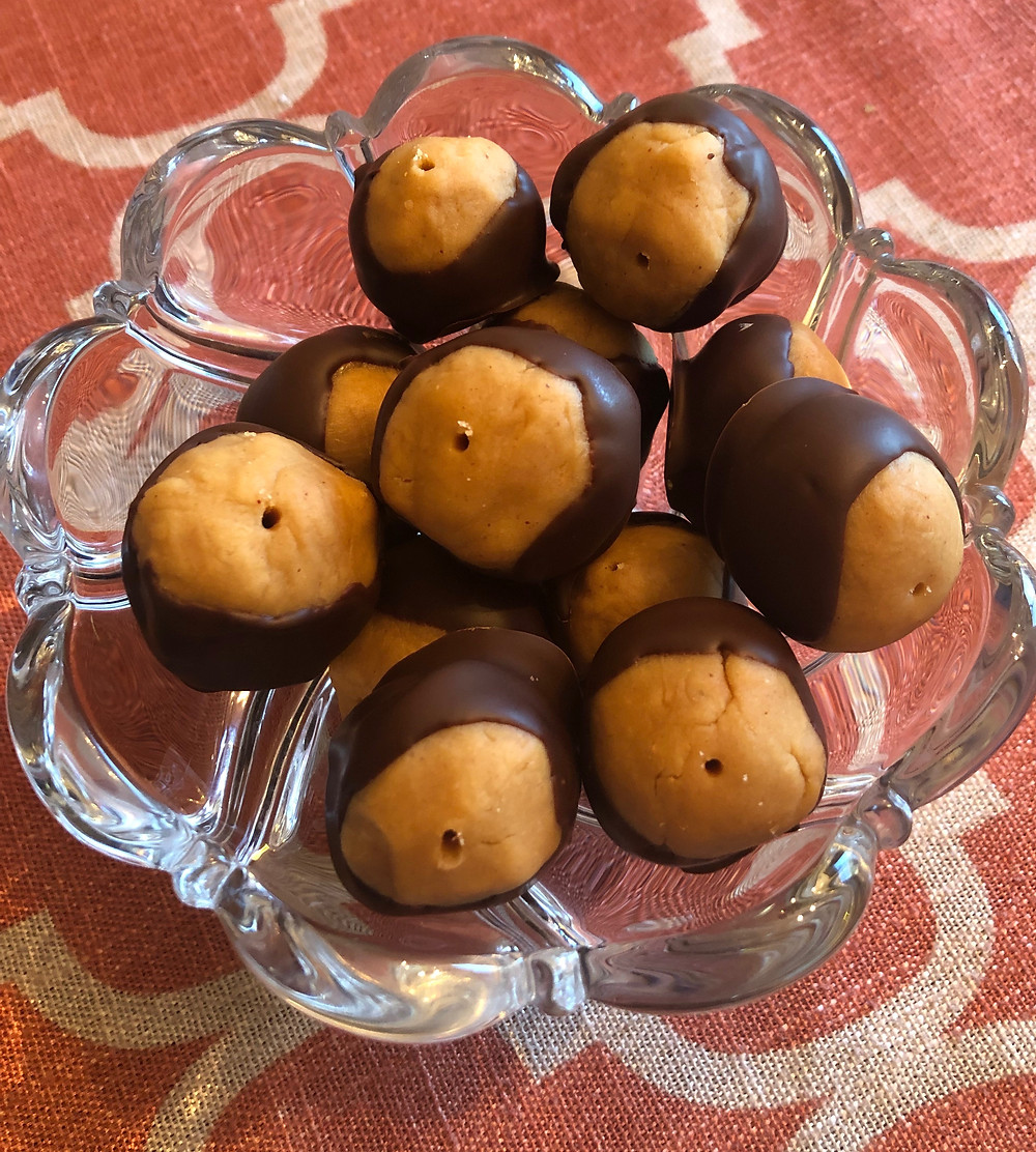 low carb 5 ingredient peanut butter chocolate buckeyes keto
