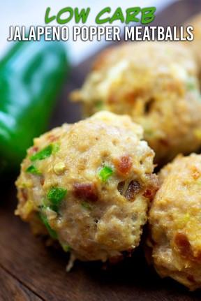 low carb jalapeno popper meatballs appetizer
