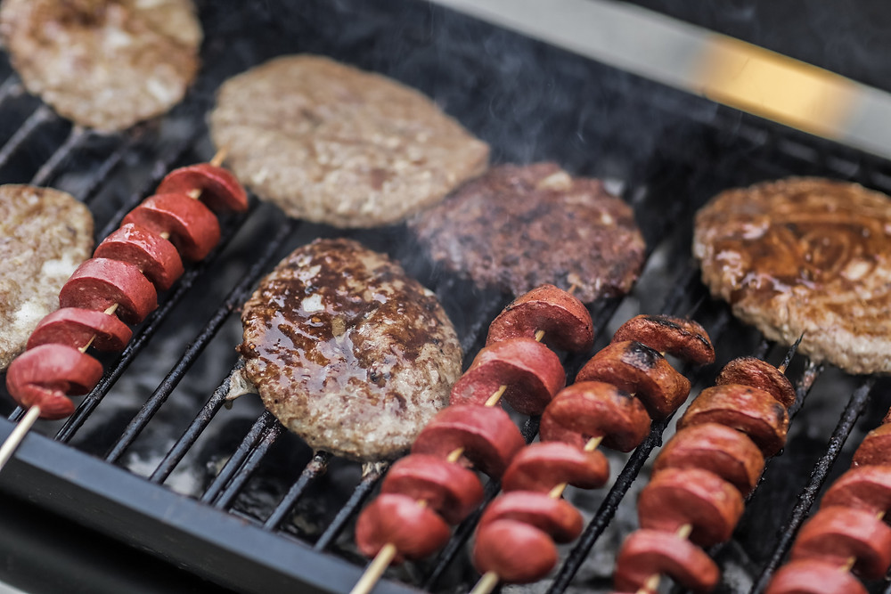 hot dogs burgers grilled meat
