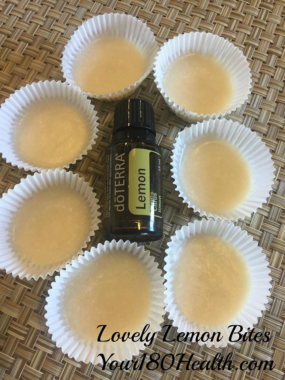 keto lemon doterra essential oil coconut fat bombs snacks easy
