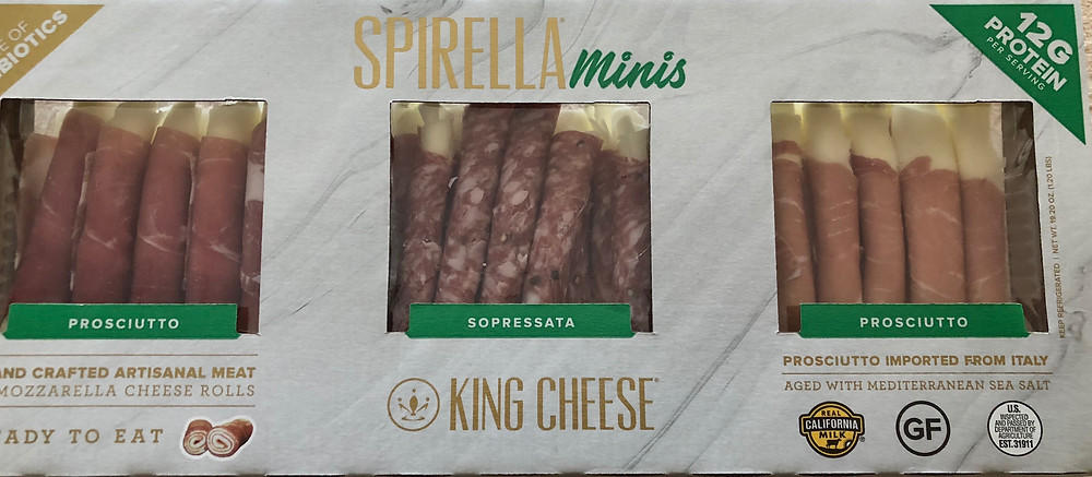 spirella minis from costco meat and cheese protein healthy keto low carb