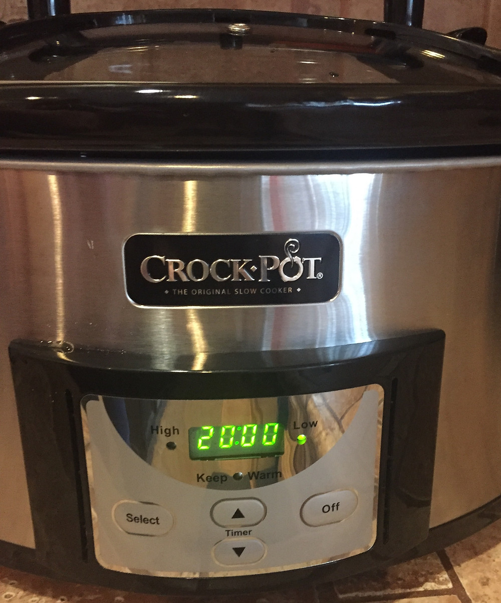 Crockpot set at 20 hours