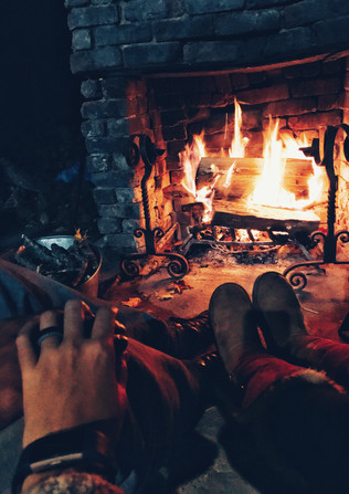 Cozy Fire in the Picnic Shelter