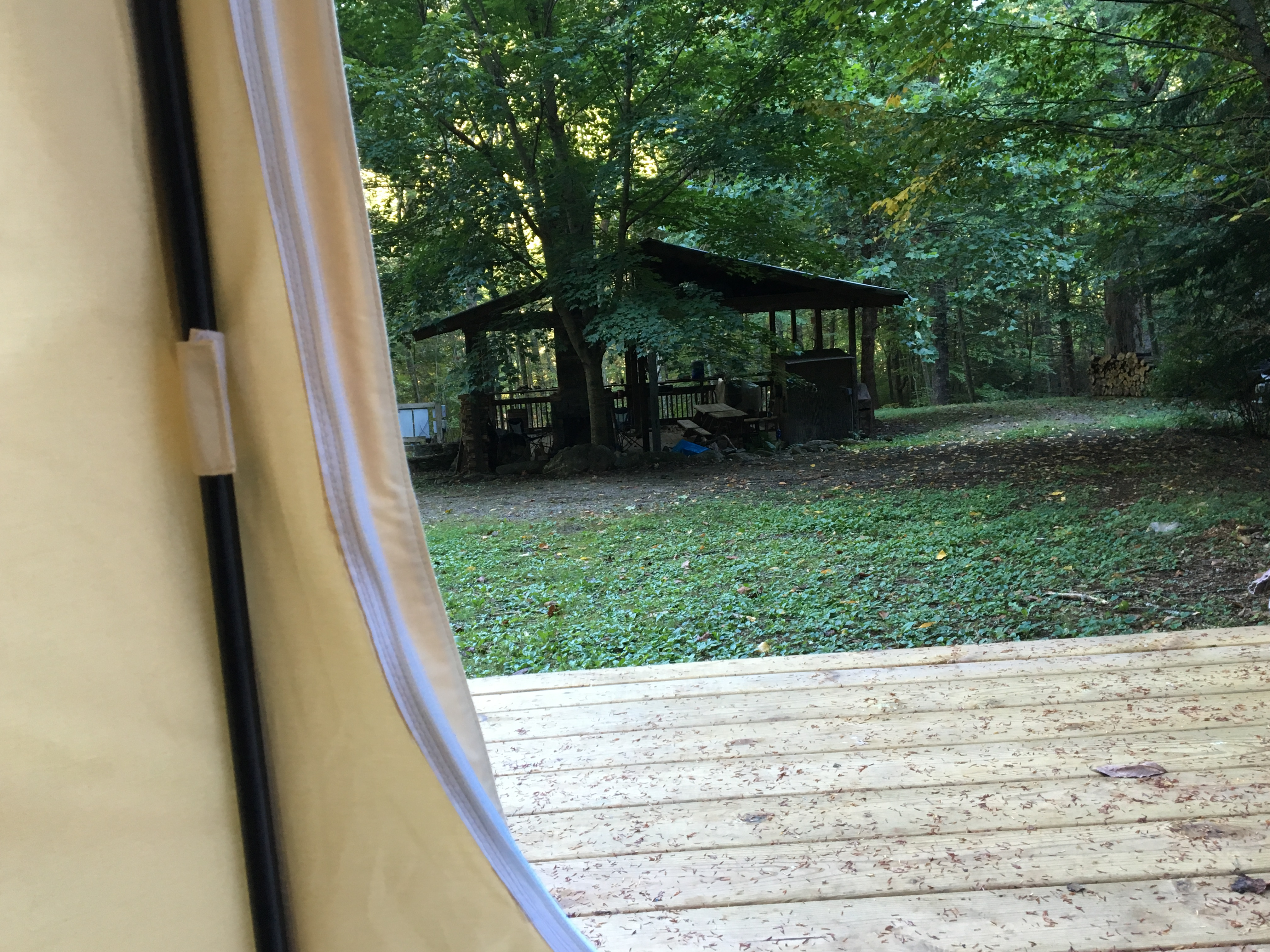 Picnic Shelter from the Tent