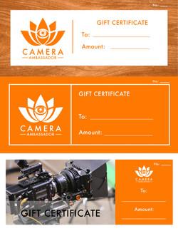 Gift Certificate Design (Set of 3)