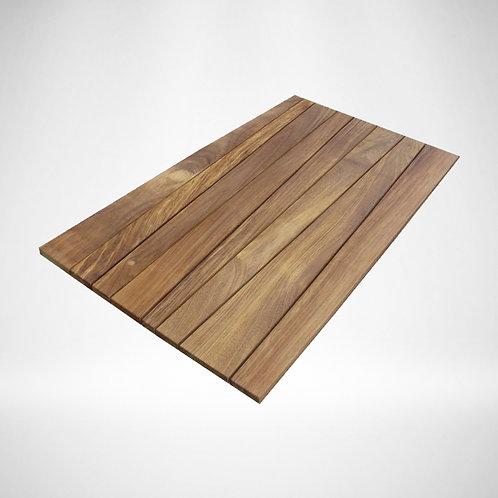 Iroko irregular table top
