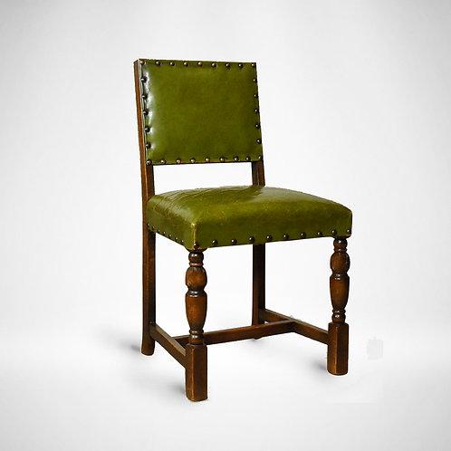Reclaimed 1940's Upholstered Back Chair
