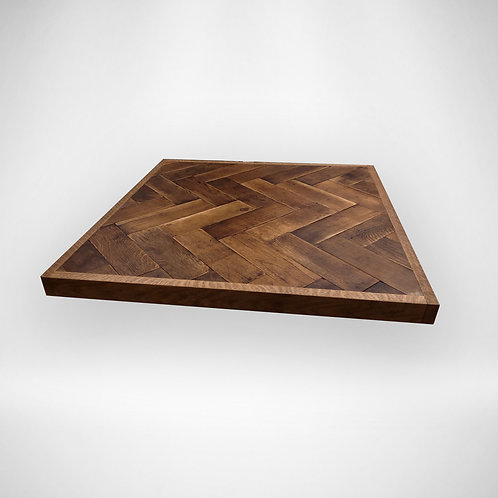 Parquet plank table top