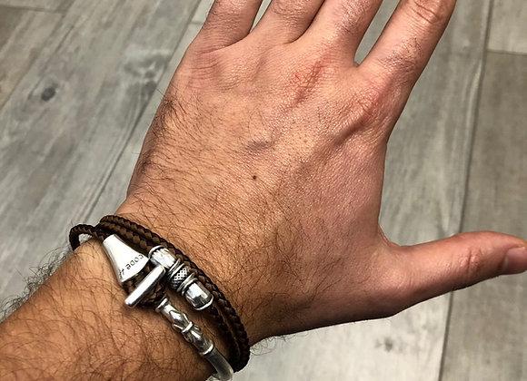 Bracelet demi-jonc fleur de Lys