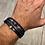 Thumbnail: Composition bracelet perles et cuir ajustable