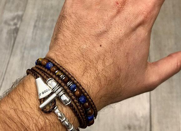Composition bracelets demi-jonc et perles