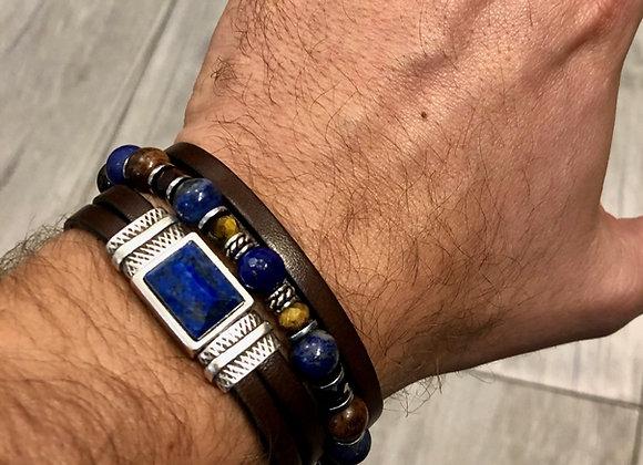 Composition bracelets perles et cuir