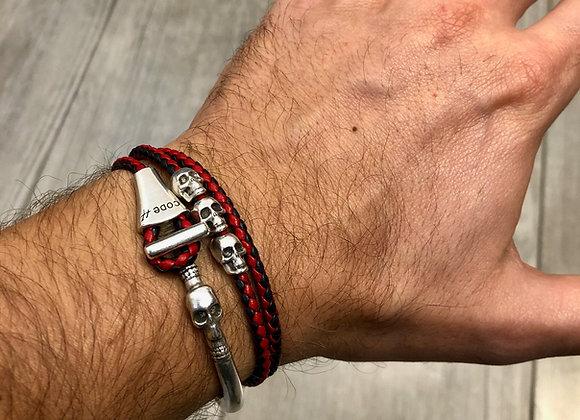 Bracelet demi-jonc Skull