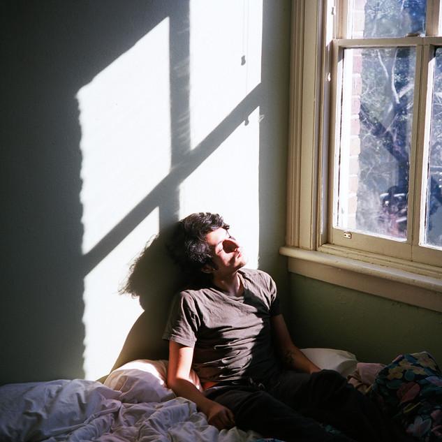 michelangelo sunbathing
