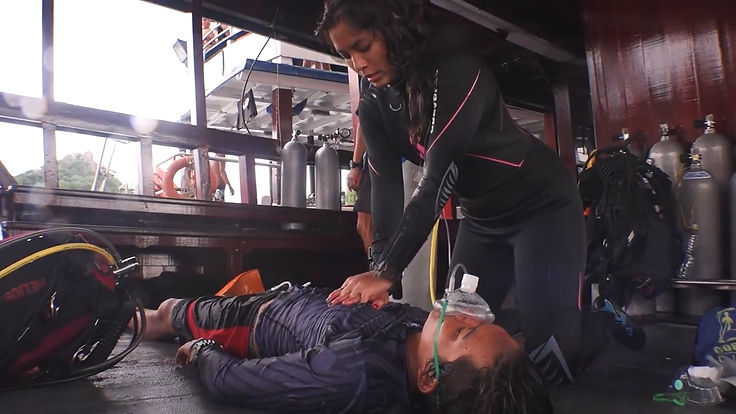 Rescue diver kohtao