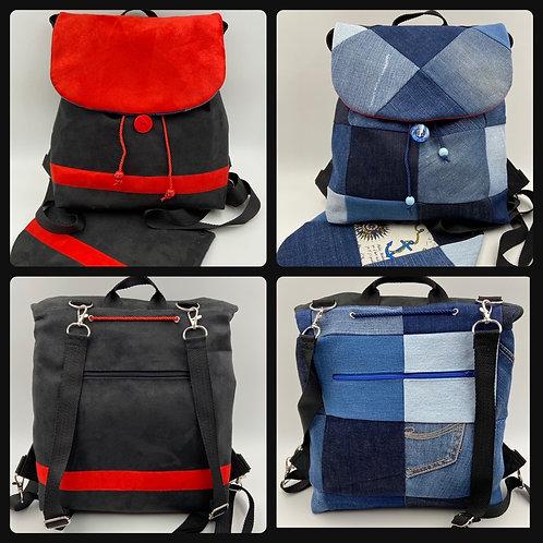 EW-Backbag Denim-Linea (inkl. 2 Klappen)