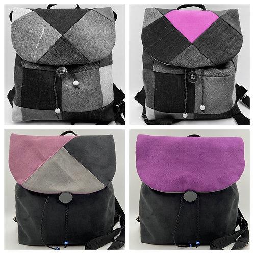 EW-Backbag Denim-Triangula (inkl. 2 Klappen)