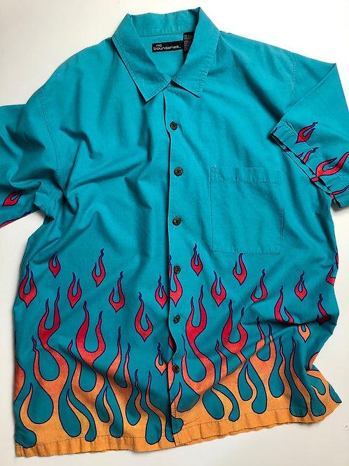 No boundaries Flame shirt,  XL