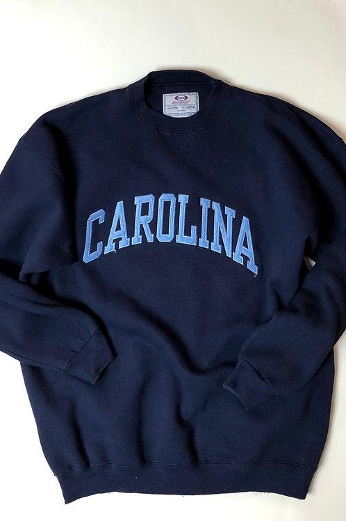 Vntg UNC Carolina Sweatshirt Oversize, XL