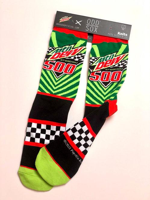 Mountain Dew Nascar Socks, brand new