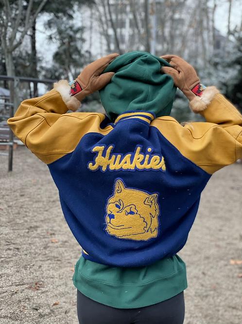 Huskies Varsity/College Jacket, 90,M/L