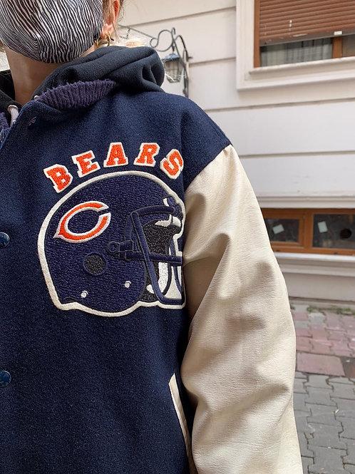 Chicago Bears Varsity Jacket Authograph, Imzali, L