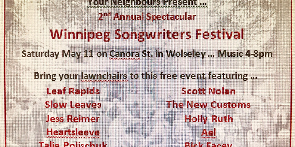 AEL @ The 2nd Annual Winnipeg Songwriters Festival
