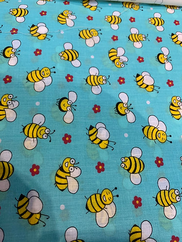 Bees Polycotton Fabric