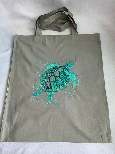 Aqua Marine Sea Turtle shopper