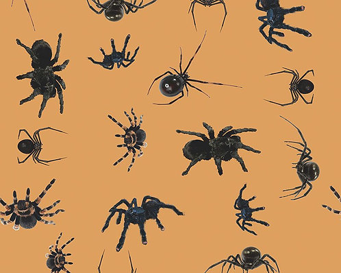 Spiders cotton fabric