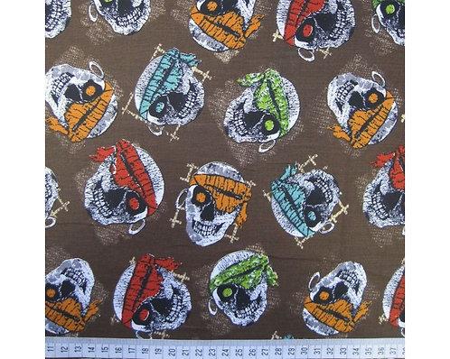 Skulls cotton fabric