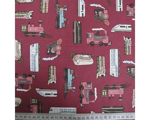 Trains cotton fabric