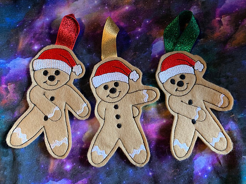 Flossing gingerbread man ornament