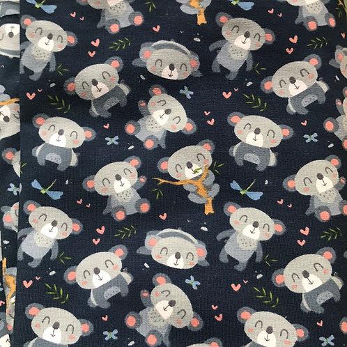 Koalas Cotton/Lycra Fabric