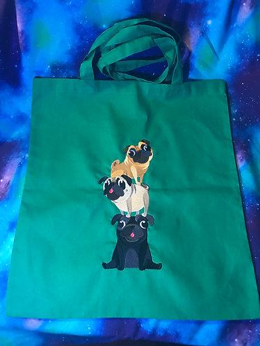 Playful Pugs Stack shopper